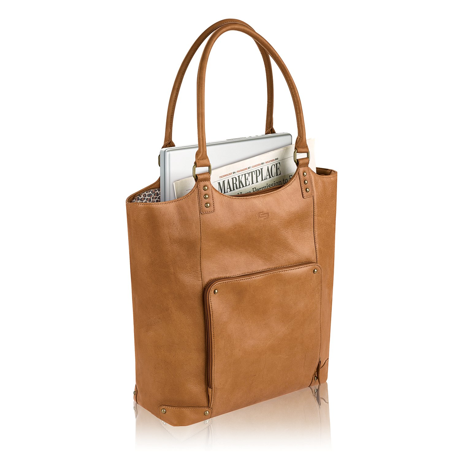 Solo Vestry 15.6 Inch Laptop Bucket Tote, Tan by SOLO (Image #4)