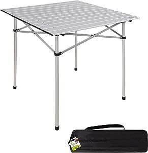 Aktive 52840 - Mesa camping plegable de aluminio 70x70x70 cm Camping: Amazon.es: Jardín