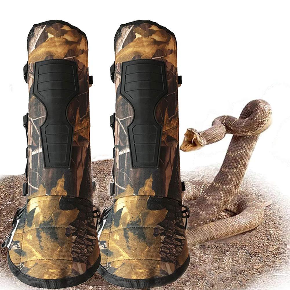 YomyRay Gu/êtres de serpent bas de la jambe armure jambi/ères de serpent imperm/éable /à leau Pr/évenir Les Insectes Mordre Sharp Rocks Thorns confortable /équipement de protection pour la chasse randonn/ée /à