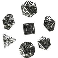 Q Workshop Metall Dwarven 7 Dice Set Board Game