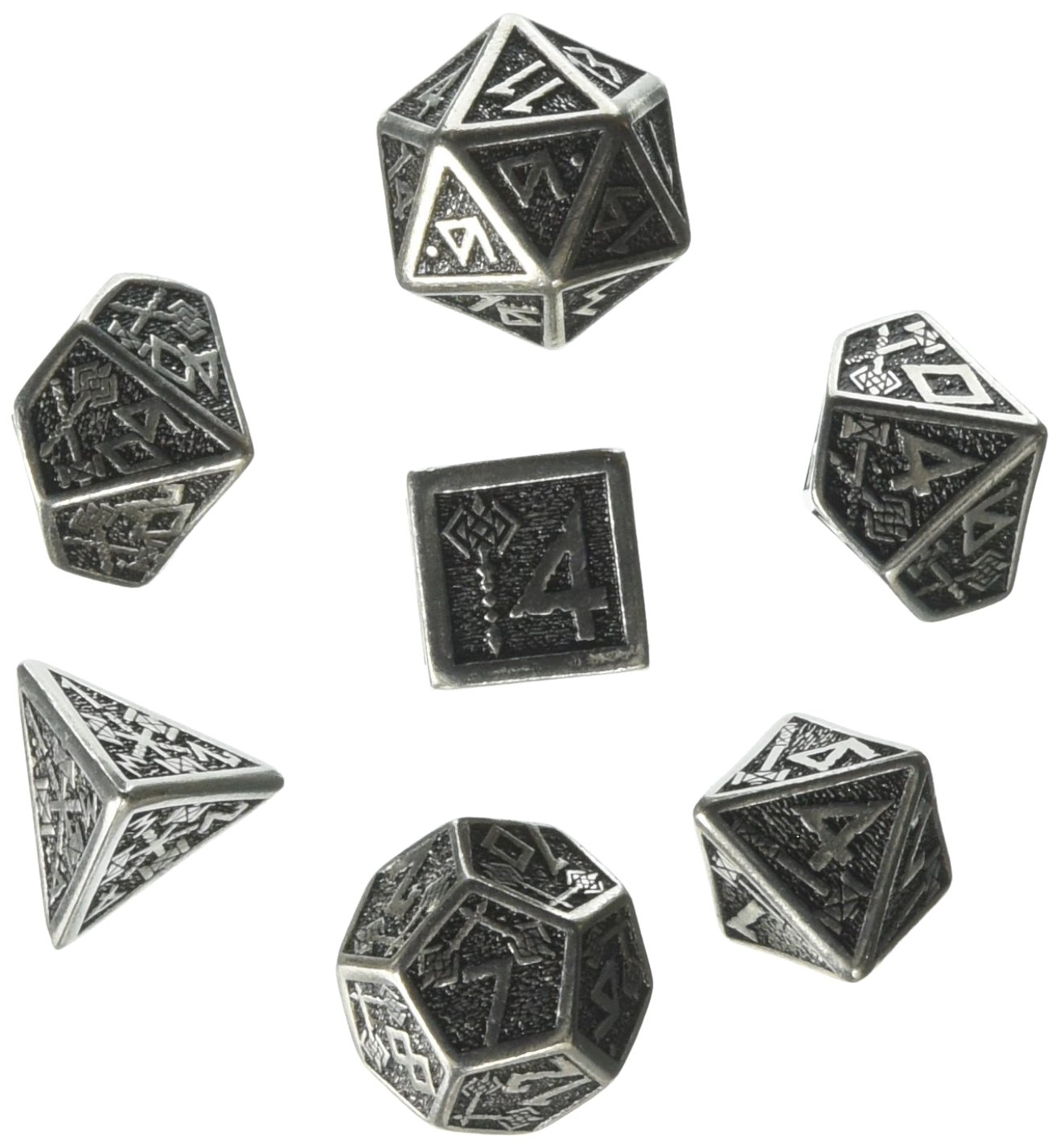 Metall Dwarven 7 Dice Set Board Game