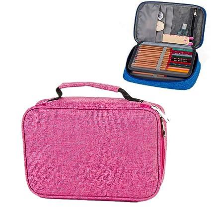 Hard Pen Pouch Bag Box Stationery Pencil Case,Handy Multi-Layer Large Zipper Pen Bag for Prismacolor Colored Pencils, Gel Pen, Color Pen, Watercolor ...