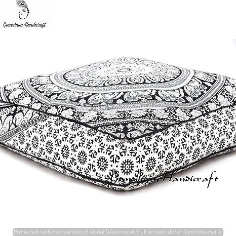 ganesham- Mandala Tapestry Square, Boho suelo funda de ...