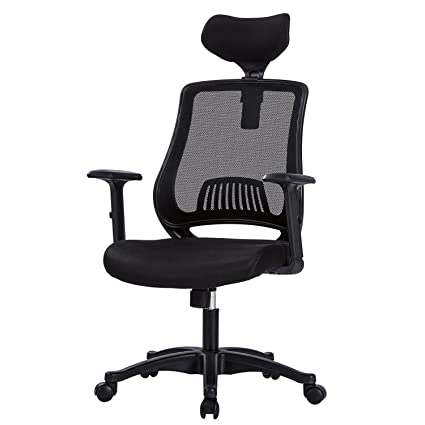 MBOO Ergonomic High Back Mesh Office Chair   Executive Computer Desk Task  Chair With Adjustable Headrest