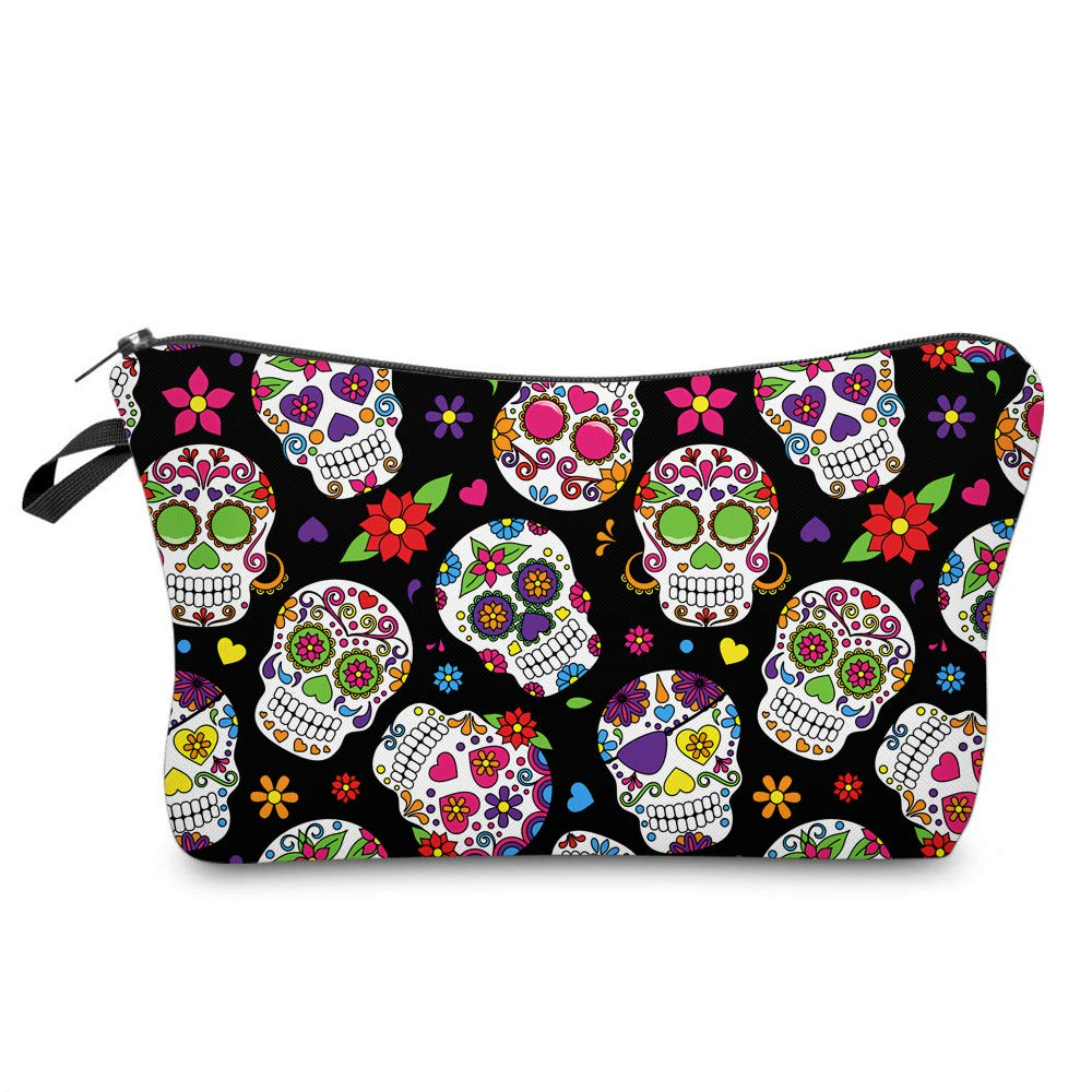Cosmetic Bag MRSP Makeup bags for women,Small makeup pouch Travel bags for toiletries waterproof Dead Sugar Skull (particular 51711)