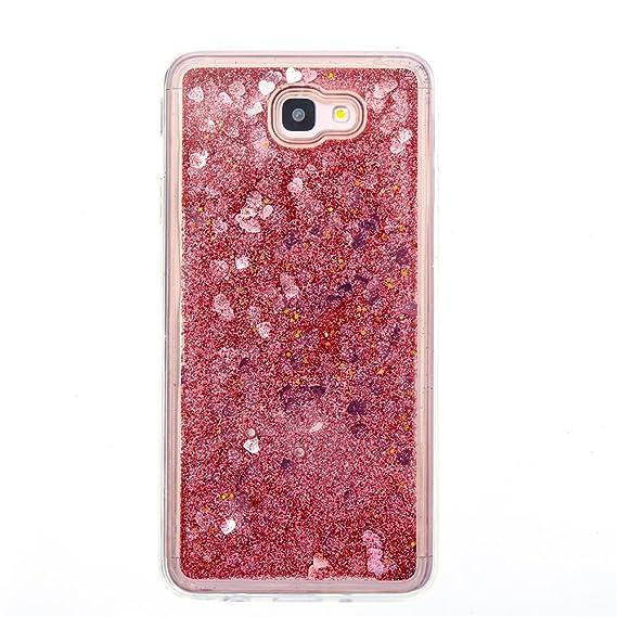 ba3f7c5410 Amazon.com: Galaxy J7 Prime Clear Case, TIPFLY Luxury Bling Glitter ...
