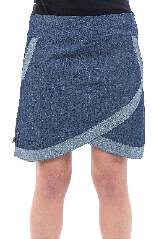 - Short Skirt Blue Denim Jean Style Wallet Ethnic Chic -