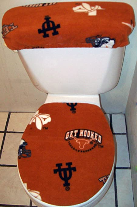 Cool Amazon Com Texas Longhorns Fleece Fabric Toilet Seat Cover Unemploymentrelief Wooden Chair Designs For Living Room Unemploymentrelieforg