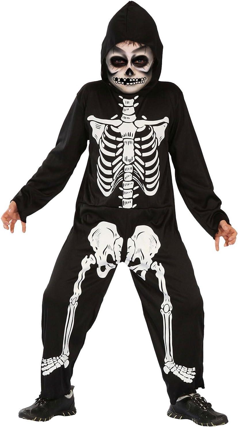 Halloween Kostuem Skelett Amazon.Magicoo Skelett Kostum Kinder Jungen Schwarz Weiss Gruseliges Halloween Kostum Jungen 110 116 Amazon De Spielzeug