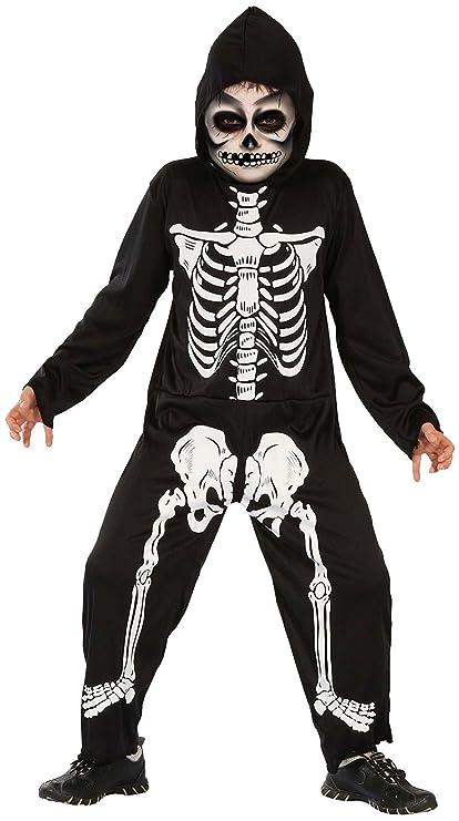 Disfraz de esqueleto infantil, para Halloween, negro y ...