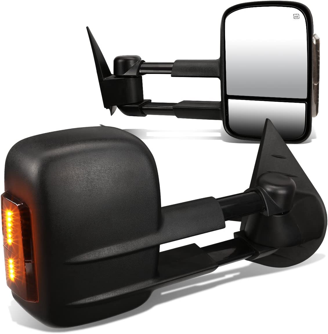 Fit 14-17 Gm Silverado//Sierra Gmtk2Xx Power+Heated Rear View Towing Mirror Pair