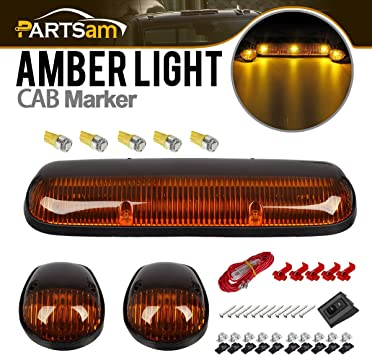 Amazon Com Partsam 3pcs Amber Cab Roof Running Marker Lights 5xt10 5050 Amber Leds Compatible With Silverado Sierra 1500 1500hd 2500 2500hd 3500 2002 2003 2004 2005 2006 2007 Pickup Trucks Automotive
