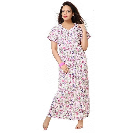 Adorable Women Night Gown, Cotton Nighty, Gown, Sleepwear, Nightwear ...