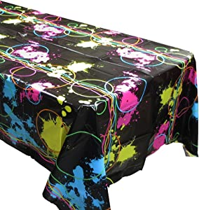 Glow Party Tablecovers (2), Glow Birthdays, Party Supplies, Black Light Party Decorations