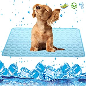 Garne T Dog Cooling Mat Large Cooling Pad Summer Pet Bed for Dogs Cats Kennel Pad Breathable Pet Self Cooling Blanket Dog Crate Sleep Mat Machine Washable