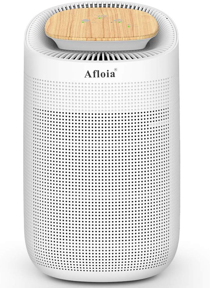 Afloia - Deshumidificador y Purificador de Aire Filtro HEPA, Elimina 700 ml/día, Depósito de Agua 1000 ml, Purificador de Aire Portátil y Absorbente de Humedad Eléctrico para Casa