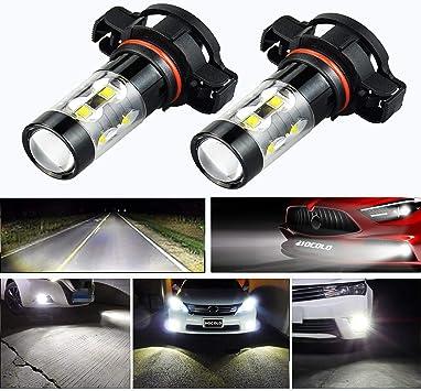 1 Pair H11 5050 6000K 18 SMD DC 12V Car LED Headlight Bulb Fog Light Accessories