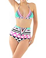 Women's Bikini Swimsuits High Waisted Push Up Padded Swimwear Bathing Suit
