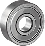 NSK 6203ZZ Deep Groove Ball Bearing, Single Row, Double Shielded, Pressed Steel Cage, Normal Clearance, Metric, 17mm Bore, 40mm OD, 12mm Width, 17000rpm Maximum Rotational Speed, 1079lbf Static Load Capacity, 2147lbf Dynamic Load Capacity
