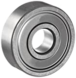 NSK 6201-08ZZ Deep Groove Ball Bearing, Single Row, Double Shielded, Pressed Steel Cage, Normal Clearance, Metric, 1/2 in ID, 32mm OD, 10mm Width, 22000rpm Maximum Rotational Speed, 686lbf Static Load Capacity, 1529lbf Dynamic Load Capacity