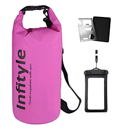 fa17d931db Infityle Waterproof Dry Bags - Floating Compression Stuff Sacks Gear  Backpacks for Kayaking Camping - Bundled