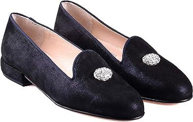 ANNA MILAN Mocasines Negros con Adorno 36-42 Piel Plantilla Gel Fabricado a Mano en España: Amazon.es: Zapatos y complementos