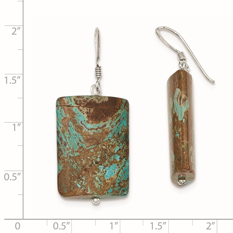925 Sterling Silver Jasper Dangle Earrings