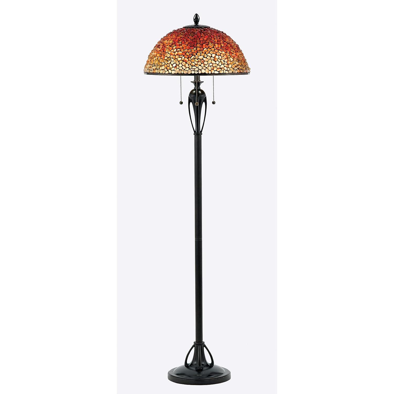Amazon lamp shades tools home improvement - Quoizel Tf135fbc Pomez Tall Floor Lamp 3 Light 195 Total Watts Cinnamon Amazon Com