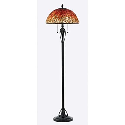 Quoizel TF135FBC 3 Light Pomez Floor Lamp, Medium, Burnt Cinnamon
