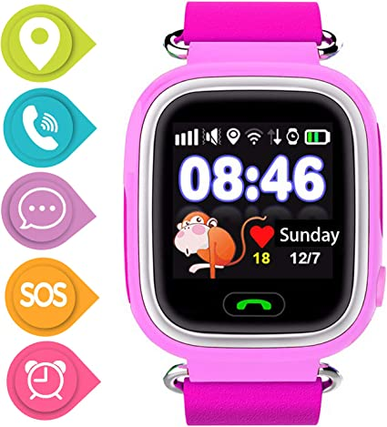SmartWatch Teléfono Niño Niña, Pantalla táctil Reloj Inteligente ...