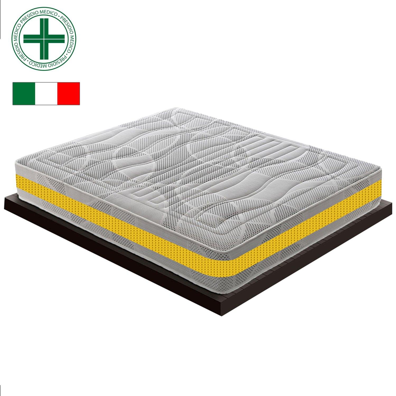Materassiedoghe Materasso Memory Foam Singolo 70x190 11 Zone differenziate MyMemory Ortopedico Certificato Presidio Medico Classe I con DETRAZIONE FISCALE