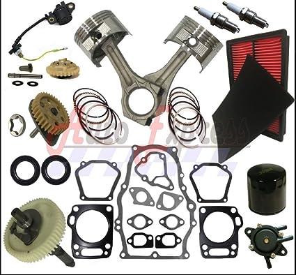 Rebuild Kit Fits Honda GX670 Piston GasketS Filter Connecting Fuel Pump  Camshaft