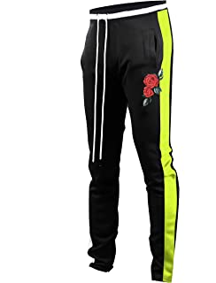 c93d5f315 Screenshotbrand Mens Hip Hop Premium Slim Fit Track Pants - Athletic Jogger  Bottom with Side Taping