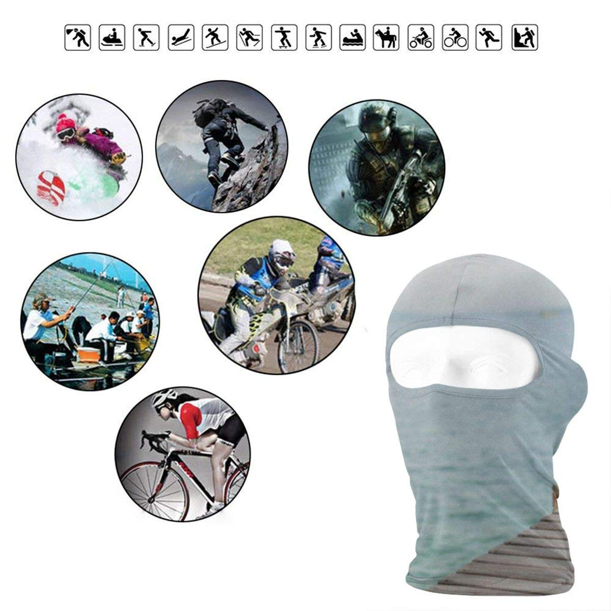 Balaclava Penguin Full Face Masks Ski Sports Cap Motorcycle Neck Hood
