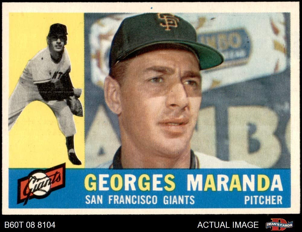 1960 Topps # 479 Georges Maranda San Francisco Giants (Baseball Card) Dean's Cards 7 - NM Giants