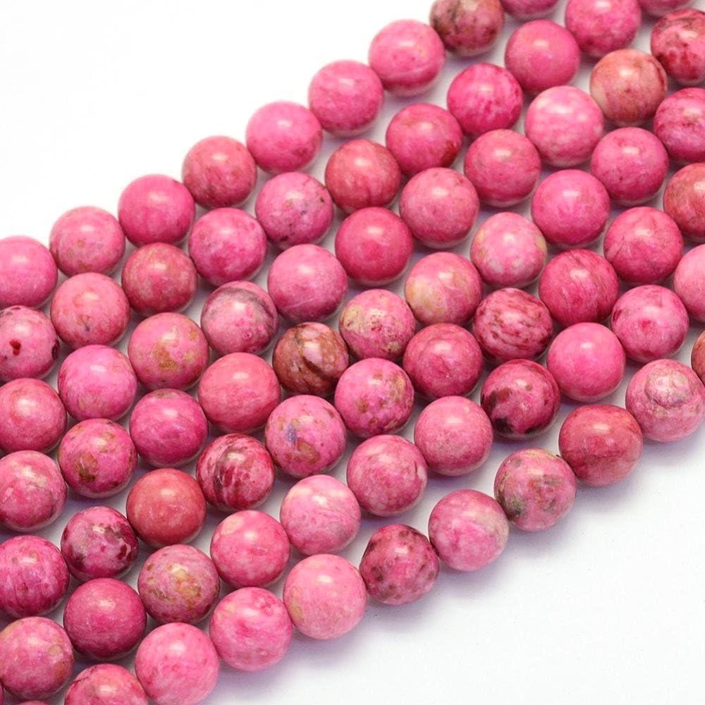 Piedras Preciosas Perlas Natural Crazy Ágata Redonda, 8mm, Rosa, Joyas diseño Manualidades Accesorios g418