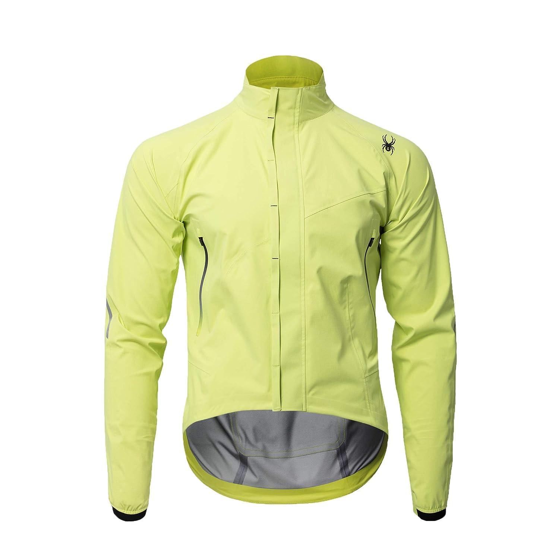 (スパイダー) Spyder Men`s 3-layer wind block cycle jacket メンズサイクルジャケット (並行輸入品) B07KWWLTW6 L|Lime Lime L
