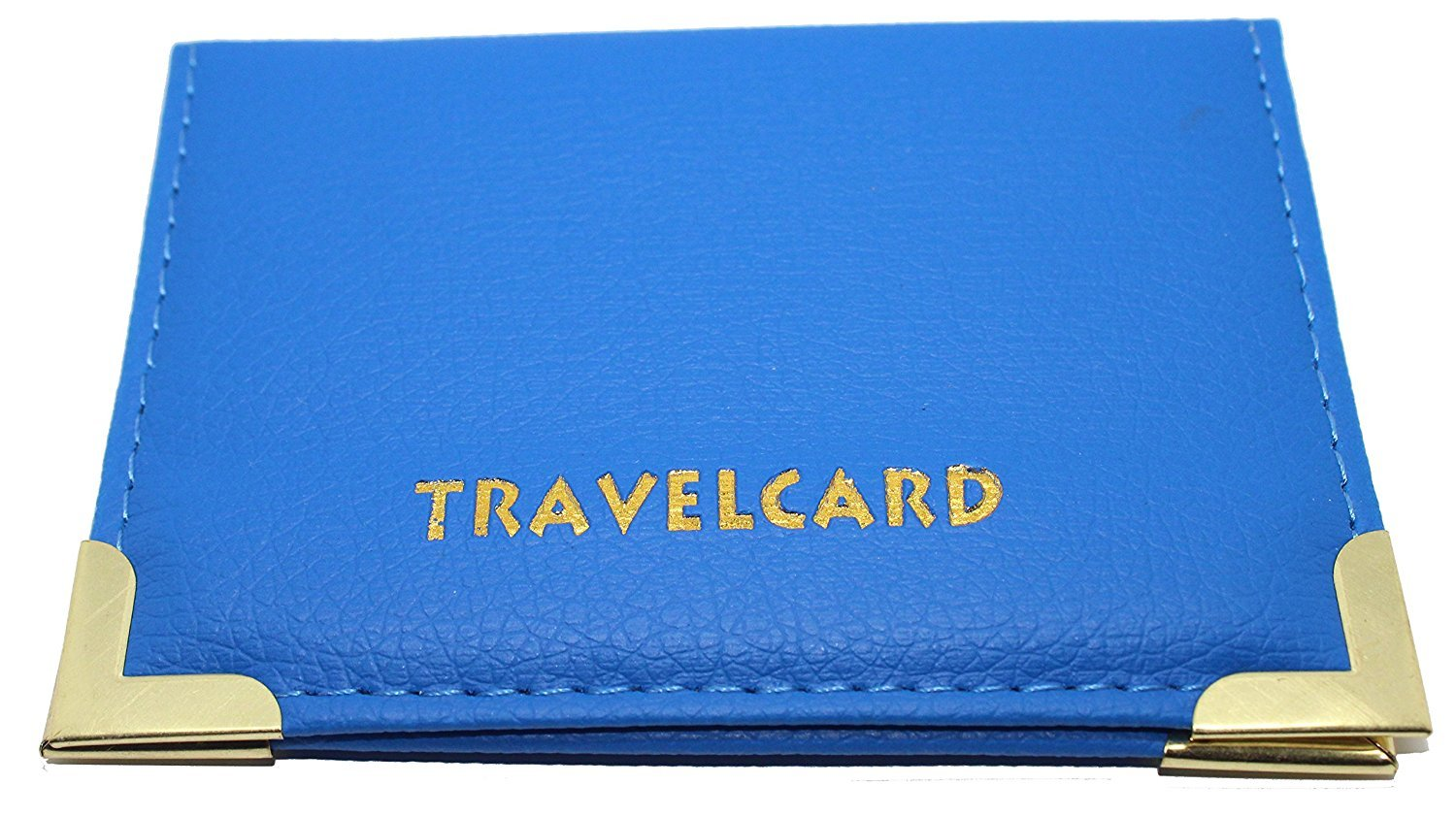 Blue Soft Leather TRAVEL CARD Bus Pass Credit Card ID Card Wallet Cover Case Holder by Kwik Buy TICHI®