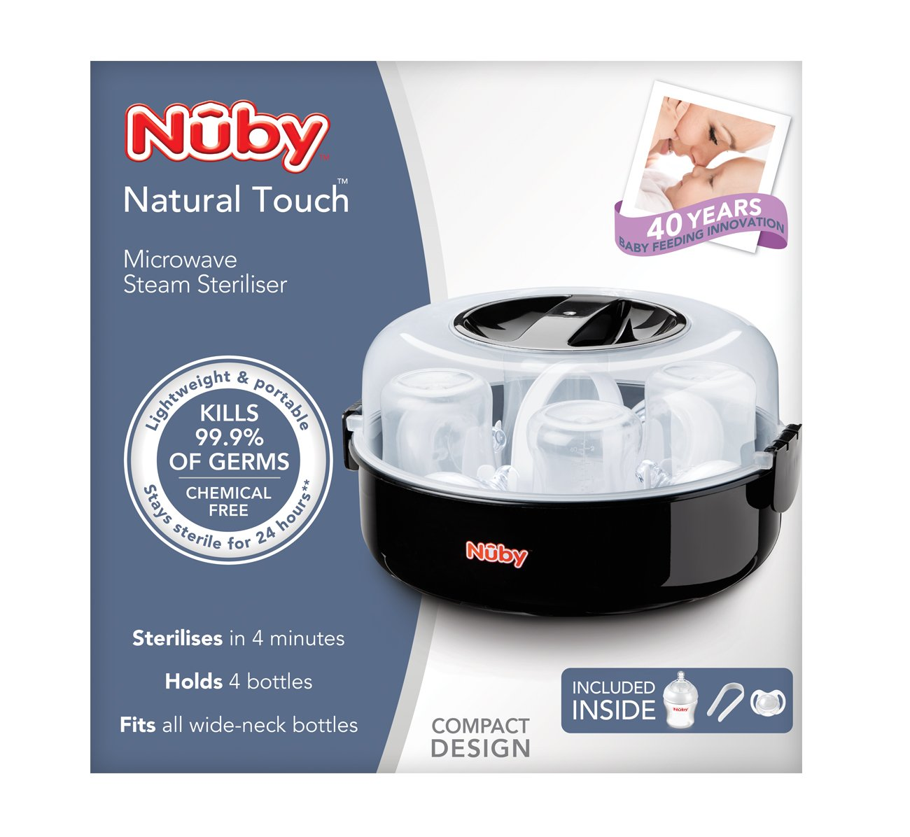 Nuby Natural Touch Microwave Steam Steriliser