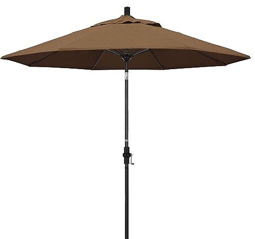 California Umbrella GSCUF908705-5488 9' Round Aluminum Pole Fiberglass Rib Market Patio Umbrella
