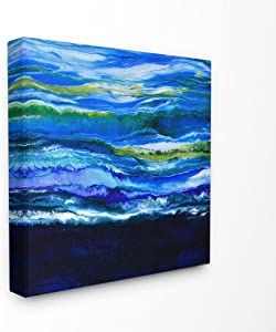 Stupell Industries Acrylic Resin Waves Water Ocean Abstract Canvas Wall Art, 24 x 24, Multi-Color