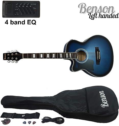 Benson S-Line zurdos eléctrica electro Semi acústica guitarra ...