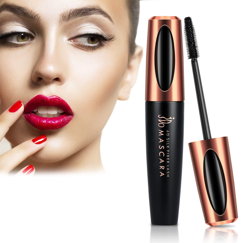 Natural 4D Silk Fiber Lash Mascara, JDO Waterproof & Smudge-Proof Mascara for Thicker, Lengthening & Voluminous Eyelashes, No Flaking, No Smudging, No Clumping, Long Lasting Charming Eye Makeup