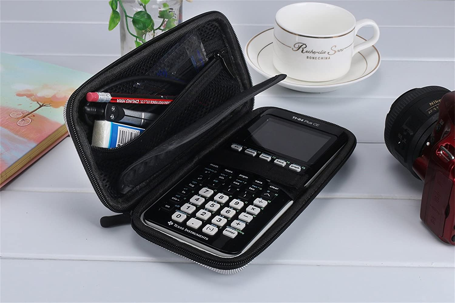 Gray HP 50G Graphing Scientific Financial Calculators Xberstar Hard EVA Shockproof Carry Case Bag Pouch for Texas Instruments TI-84 Plus CE//Color TI-83 Plus,TI-89 Titanium