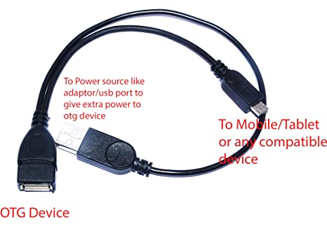 M. A. Enterprises USB male to 2.0 Female Host OTG Cable with Adapter with Power Y Splitter Mobile Accessories at amazon