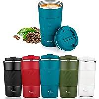Reismok, TEWLEN herbruikbare koffiekop 100% lekvrij isoleerbeker thermobeker roestvrij staal koffiebeker to go…