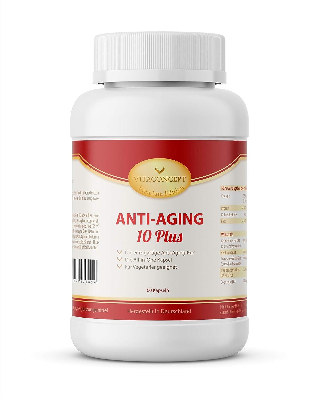 VITACONCEPT - 60 cápsulas antienvejecimiento - Todo en uno para una piel tersa y brillante - Fabricadas en Alemania: Amazon.es: Salud y cuidado personal
