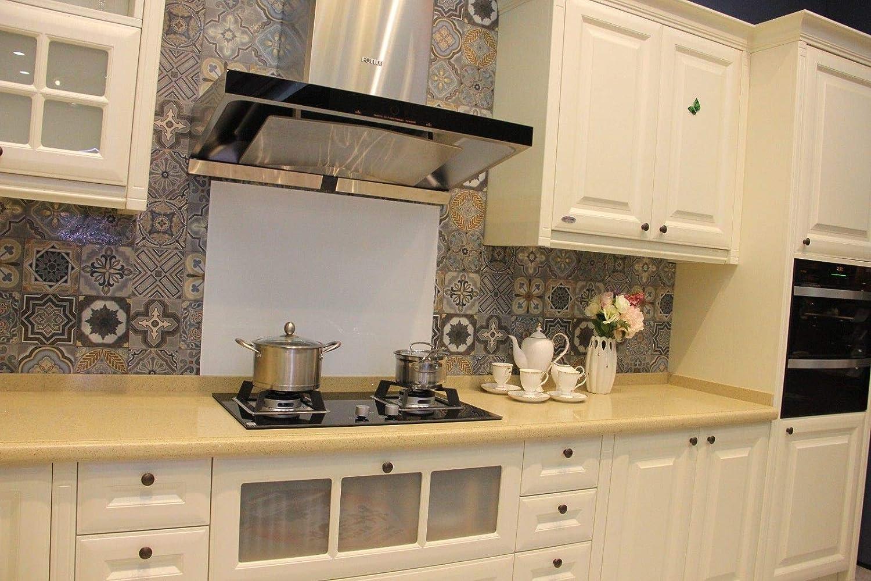 White Toughened Glass Kitchen Splashback - Buy Designer Kitchen Splashback UK (White, 5060)