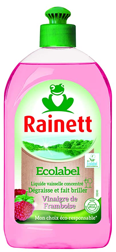 Rainett líquido lavavajillas mano vinagre de frambuesa: Amazon.es ...