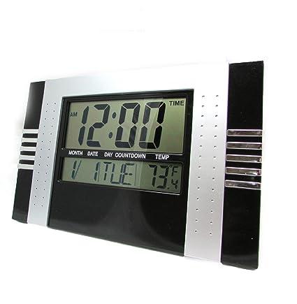 BazarTamara✮ Reloj Digital de Pared para Cocina Oficina Pantalla Grande con Termometro, Calendario,
